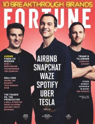 fortune-magazine-january-1-2017-airbnb-snapchat-waze-spotify-uber-trump-tillerson-conflict-already