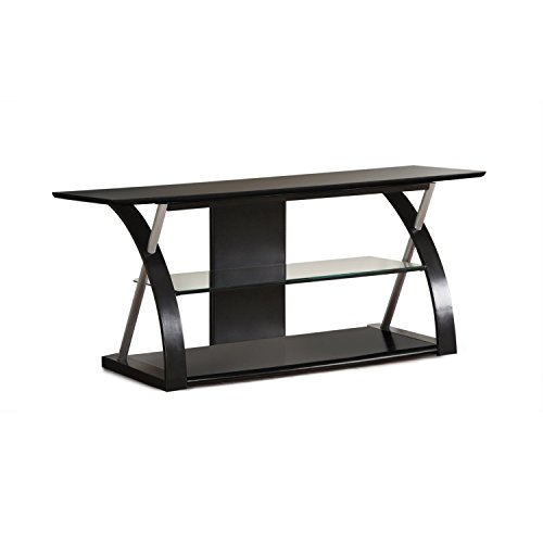Poundex Premium Tv Stand for Flat Screens Black Lcd Enter...