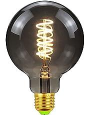 E27 Edison LED-glödlampor, 4 W, stor glob vintage filamentskruv i glödlampor, blandade designer dekorativa hängande glödlampor för heminredning utan flimmer, aska, G95