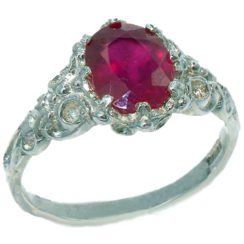 925 Sterling Silver Natural Ruby Womens Solitaire Ring Sizes 4 to 12 Available