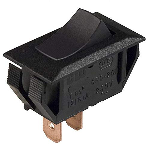SWITCH ROCKER SPST 16A 125V (Pack of 40) (NAA-111-BI31-00) by CW Industries