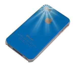 """""""Clásico"""" Azul, Cubierta de plástico duro & """"Desire"""" Rojo, Funda de tacto suave - para iPhone 4. Paquete único de Cubierta / Estuche / Carcasa / Funda para iPhone 4 & Auténtico estuche de tacto suave para iPhone 4."""