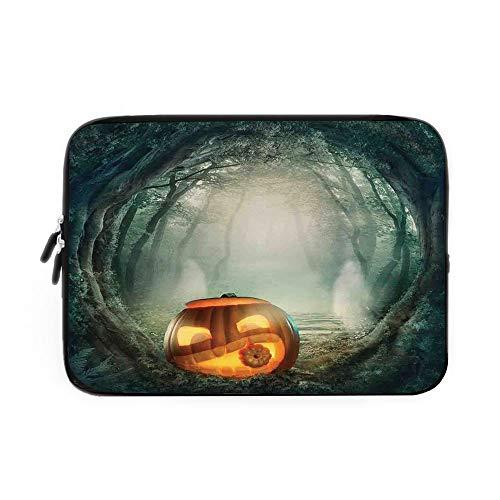 Halloween Decorations Laptop Sleeve Bag,Neoprene Sleeve Case/Scary Halloween