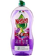 Nelsen Nelsen witte azijn en lavendel, afwasmiddel voor handpalmen, vet diep en zorgt voor een extra hygiënische werking, 900 ml - 900 ml