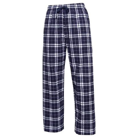 Boxercraft Plaid 100% Cotton Flannel Pant F20, Navy/Silver- M - Flannel Pajama Pants Sleepwear
