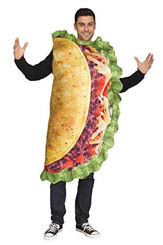 Fun World Men's Taco, Multi-Colored, STD. Up to 6' / 200 -