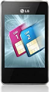 LG T375-BLK Cookie Smart Dual Sim Unlocked Phone with 3.2-Inch Touchscreen and 240 x 380 Pixels Screen Resolution - No Warranty - Black