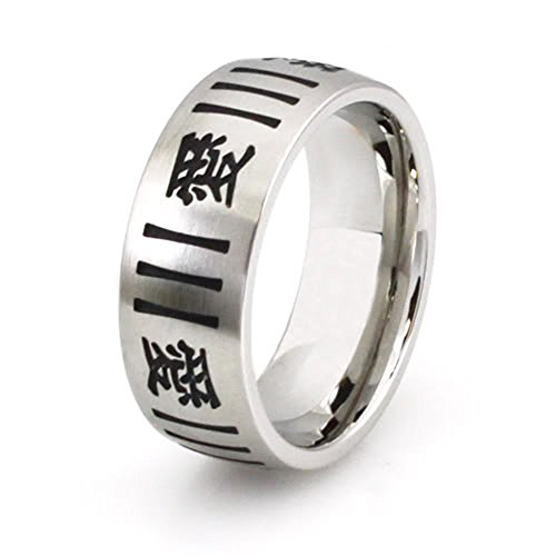Chinese Character Ring - West Coast Jewelry Stainless Steel Ring w/Chinese Character for Love - Size 14