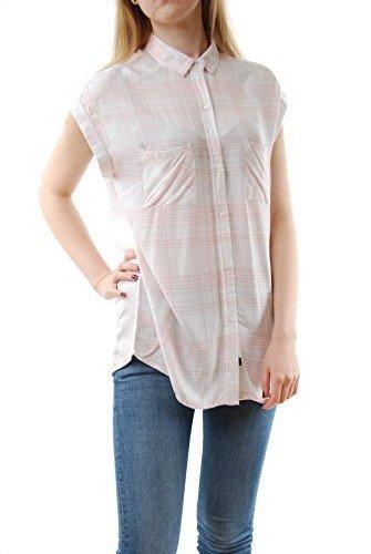 Rails Women's Britt Rolled Button Down Short Sleeve Periwinkle/Blush Size S