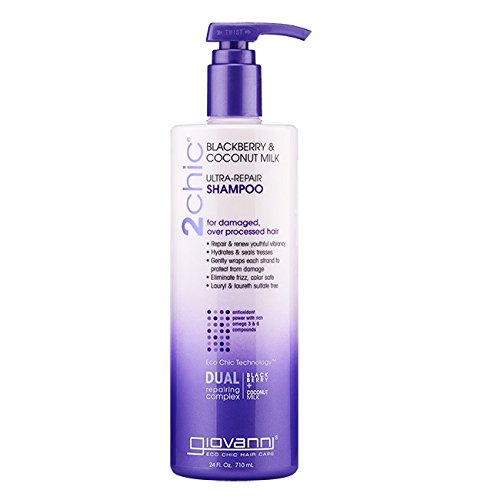 Giovanni 2chic Ultra Repair Shampoo, Blackberry and Coconut Milk, 24 Fluid Ounce