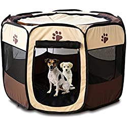 Soft Sided Pet Carrier Portable Folding Pet Dog Cat Cage Playpen House Tent Kennel Easy Operation Comfortable Fence Outdoor Supplies Type 2 Size 70x70x45cm