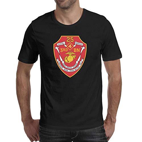 3rd Battalion 7th Marine Regiment - 3rd Battalion 25th Marine Regiment of United States Mariners Corps Mens T Shirt Custom Tshirts for Men Cotton O-Neck Short Sleeves Unique Tee Shirts
