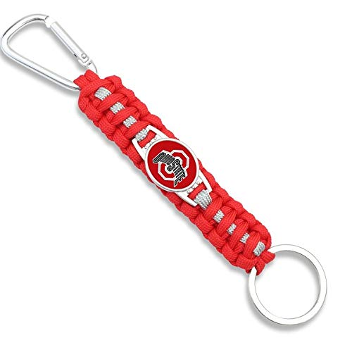 HPS Ohio State Buckeyes Paracord Keychain