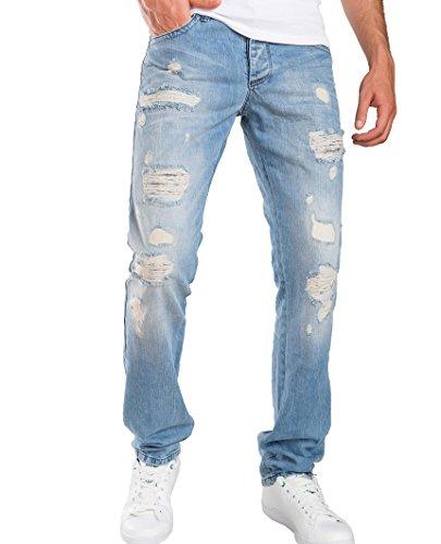 Red Bridge Hombre Vaqueros Pantalones Denim Destruida Mira Jeans