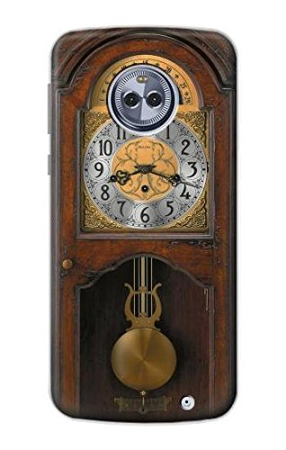 Price comparison product image R3173 Grandfather Clock Antique Wall Clock Case Cover For Motorola Moto G6 Plus