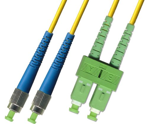 2M - Singlemode Duplex Fiber Optic Cable (9/125) - FC/UPC to SC/APC