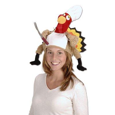 Plush Chef Turkey Hat Party Accessory (1 count) (1/Pkg)