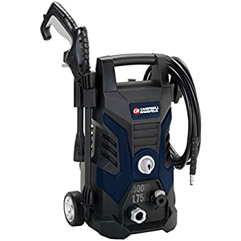 Pressure Washer, Electric Power Washer, 1500 Max PSI, 1.75 Max with Nozzles GPM (Campbell Hausfeld PW150100)
