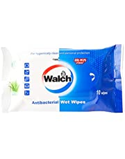 Walch Antibacterial Personal Wet Wipes (10 Pieces), Aloe,