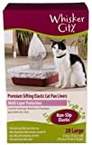 Whisker City Large Cat Sifting Litter Box Liners, 20 Count