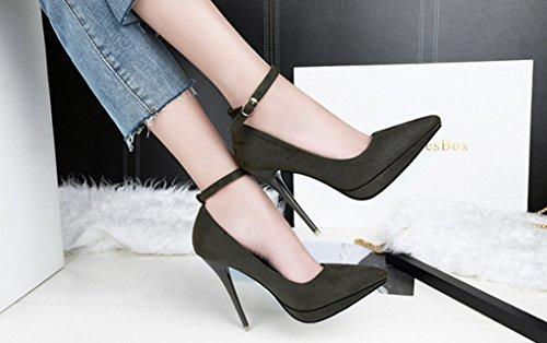 Lbdx Alada La Manera Atractivas Las Coreana Tacn Solteros Mujeres Zapatos Alto Se De 4 Moda FnxraFw