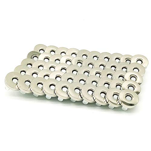 Aligle 50 Sets Magnetic Purse Snap Clasps Button/Great Closure Purse Handbag Clothes Sewing Craft Silver