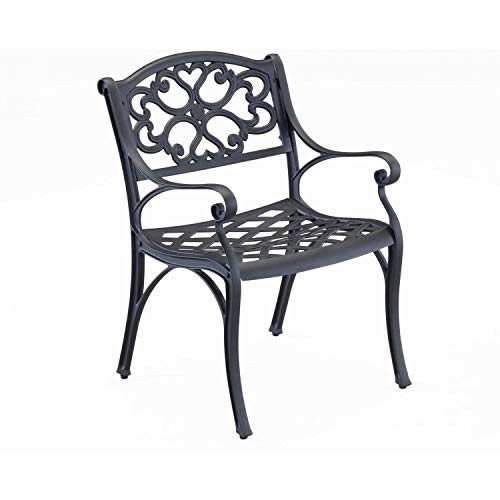- Biscayne Black Dining Arm Chair Pair by Home Styles