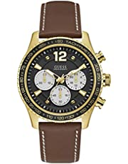 Guess Casual Watch For Men Analog Leather - W0970G2