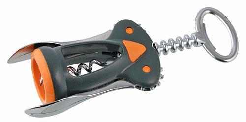 Stainless Steel 17 x 7.8 x 4.3 cm Fackelmann Corkscrew Soft 17cm in Grey//Orange//Silver