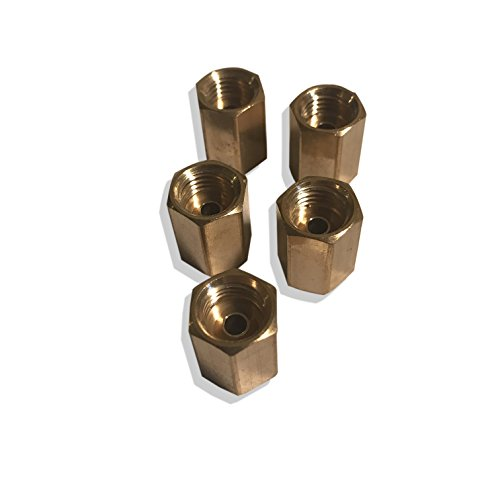 ASD Brake Line Unions For 3/16 Tube (3/8-24 Thread, Inverted Flare) (Pack of 5)