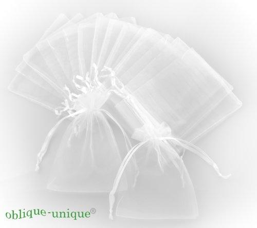 100 x weiße Organzabeutel - Auswahl an verschiedenen Größen 7x9cm - 10x12cm - 12x16cm (10x12cm)