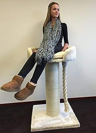 RHRQuality Chartreux - Rascador grande XXL para gatos grandes y pesados, tronco de sisal de 20 cm de diámetro, color beige, producto de calidad: Amazon.es: ...