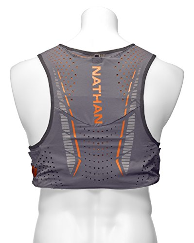Nathan NS4535 Vaporkrar Hydaration Pack Running Vest with 1.5L Bladder, Steel Grey, X-Small by Nathan (Image #2)