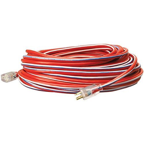 USA Stripes Extension Cords w/ Lighted End, 50' (24 Pack) by Southwire
