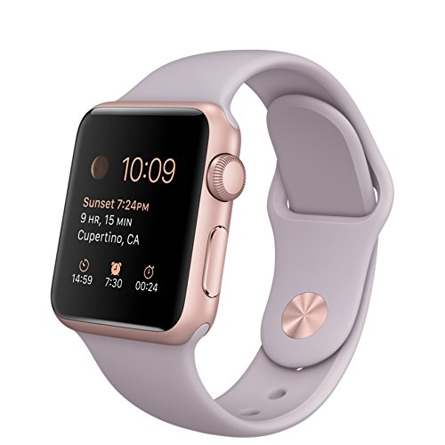 Apple watch series 3 Aluminum case Sport 42mm GPS + Cellular GSM unlocked (Gold Aluminum case with Pink Sport Band (GPS+CELLULAR))