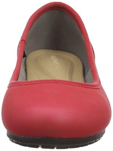 de Rosso Pepper Black Mujer Ballet ColorLite CrocsMarin Zapatillas Hq6wBO1