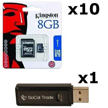 Amazon.com: 10 Pack – Tarjeta de memoria microSDHC Kingston ...