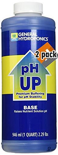 General Hydroponics pH Up Liquid Fertilizer, 1-Quart - 2 Pack