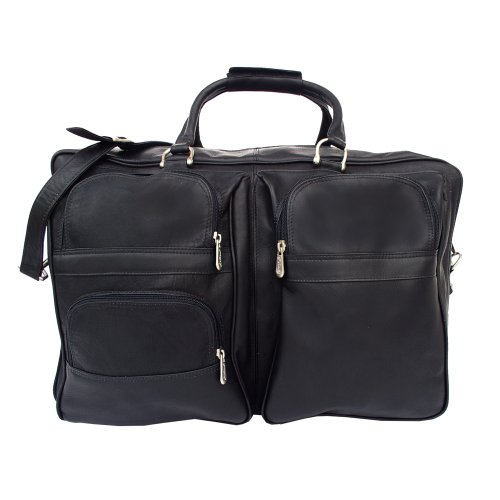 Piel Leather Complete Carry-All Bag, Black, One Size -
