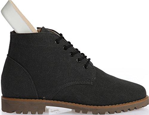 Gadae-028 Zapatos Ocasionales Para Hombre De 5 Agujeros Zapatos De Tacón Alto De Chukka En Negro