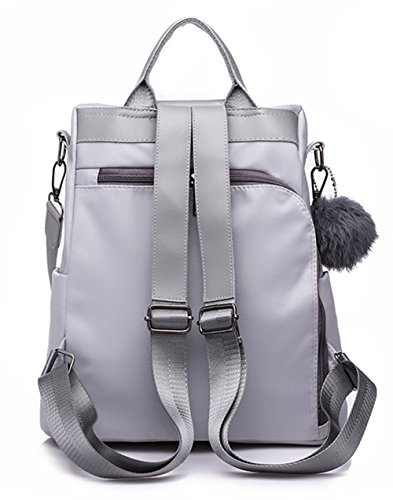 Backpack Bag Lightweight Fashion Molodo Shoulder Black Women Purse Rucksack Nylon fcqw66SnZa