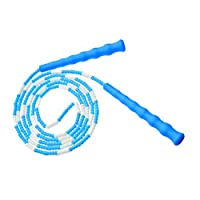 Kids Jump Rope - Soft Beaded Segment Skipping Rope Adjustable Tangle-Free Fancy Rope for Children
