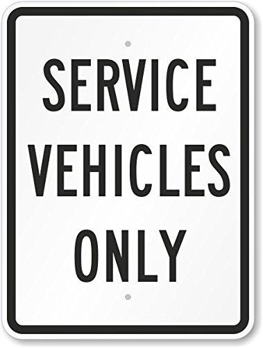 Amazon.com: Servicio vehículos sólo cartel, 24