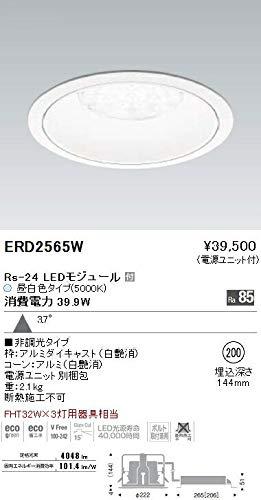 ENDO LEDリプレイスダウンライト 昼白色5000K 埋込穴φ200mm 非調光 FHT42W×3灯相当 広角 ERD2565W(ランプ付) B07HQ9L2FD