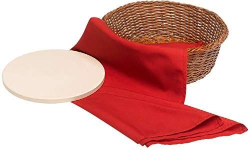 Bialetti 6953 Round Bread Basket with Warming Stone
