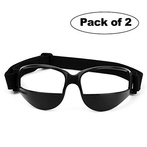 2 Packs Sports Dribble Goggles for Basketball Training Aid - Great for Improve Dribbling Skill, Handling Skills, Black (2 Packs)