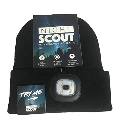 326a58043a30 DM Merchandising Inc. Night Scout Rechargeable LED Beanie (Black)