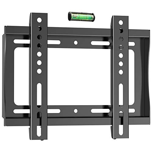- PERLESMITH Fixed TV Wall Mount Bracket for 17-42 Inch LED LCD OLED Plasma Flat Screen TVs - Ultra Slim TV Mount Max VESA 200x200mm - Single Stud Low Profile Fix Wall Mount Holds up to 66lbs