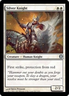 Magic: the Gathering - Silver Knight - Duel Decks: Knights vs Dragons -
