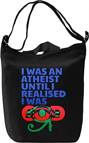 Atheist Until Borsa Giornaliera Canvas Canvas Day Bag| 100% Premium Cotton Canvas| DTG Printing|